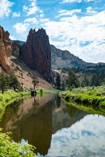Hiking around Smith Rock in Oregon when everything just looked right