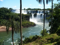 Hiking around the Iguazu Falls ten years ago this heaven is between Argentina and Brazil