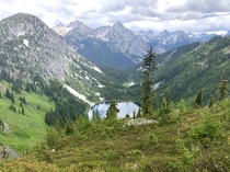Hiking at North Cascade National Park on Maple Pass Trail Loop in Skagit WA