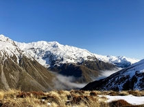 Hiking down from Temple Basin Arthurs Pass South Island New Zealand