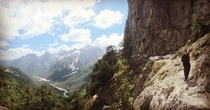 Hiking in Albanian Alps was amazing This is from Qafa e Valbons