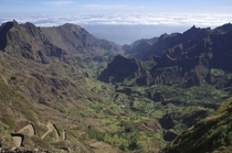 Hiking out of the extinct volcano Paul Valley Santo Anto Cape Verde x