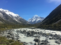 Hiking snap of Mount Cook - New Zealands tallest mountain