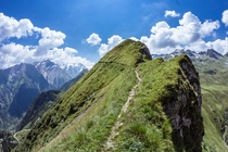 Hiking trail in Kaprun Austria
