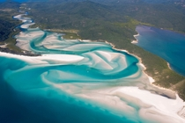 Hill Inlet at the end of Whitehaven Beach The Whitsundays Australia