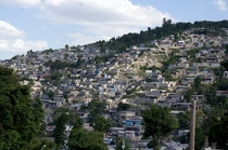 Hillside houses in Carrefour the second-largest city in Haiti