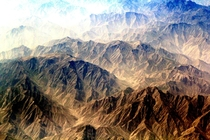 Himalayan Mountains from a plane