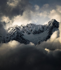 Himalayas above clouds  Taken in Uttrakhand India