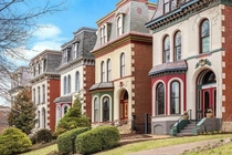 Historic Lafayette Squares Second Empire style homes in Saint Louis Missouri
