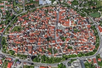 Historical Center of Wemding Bavaria Germany from above Photo by Klaus Leidorf