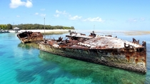 HMAS Proctector sunk at Heron Island Australia - a gunboat built in  photo by henrydownunder