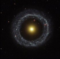 Hoags Object - a rare ring galaxy located  million light years away That means that with this image you are looking over half a billion years into the past