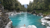 Hokitika Gorge in Hokitika New Zealand Rock Flour causes the river water to appear milky blue