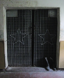 Holding cell in an abandoned base of th Tank Division of the Red Army in East Germany north of Berlin