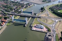 Hollandse IJssel flood barrier Netherlands