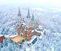 Holy Hill Hubertus WI - surrounded with rime ice