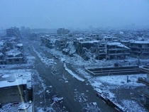Homs Syria a wasteland in the snow