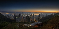 Hong Kong at sunrise