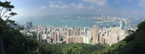 Hong Kong from a vantage point on Victoria Peak