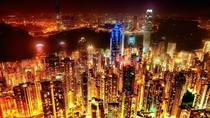 Hong Kong glowing at night x
