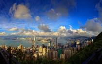 Hong Kong harbour from Victoria Peak