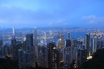 Hong Kong just after sunset
