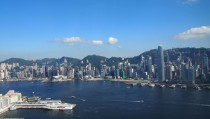 Hong Kong on a perfect day from the citys tallest building