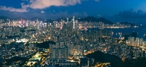 Hong Kong yesterday evening from Beacon Hill