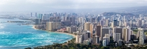 Honolulu Hawaii from Diamond Head