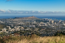 Honolulu Hawaii USA Diamond Head Crater in the distance