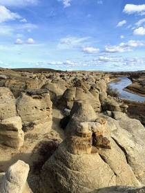 Hoodoos at Writing-on-Stone Provincial Park AB