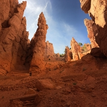 Hoodoos towering in Bryce Canyon Utah