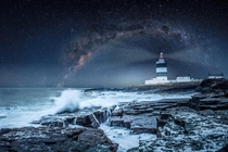 Hook Lighthouse and its starscape viewed from Ireland by Libor Klmek