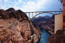 Hoover Dam Bypass and Colorado River as seen from Hoover Dam