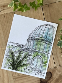 Hope art is allowed Heres a pen amp Ink I did recently of our beautiful Victoria Palm House in Belfasts Botanic Gardens A must see if anyone ever visits