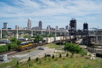 Hope Memorial and Norfolk Southern bridges in Cleveland Ohio