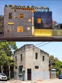 Hope this goes here Architect dad-of-three transforms a crumbling old building into his dream jungle house - complete with a rooftop veggie garden and three levels of VERY luxurious living space