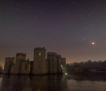 Hopefully a bit different from the other posts Bodiam Castle UK underneath totality during the lunar eclipse