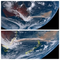 Hopefully Im not breaking a rule Satellite view of Australia shows smoke going to New Zealand and Chile