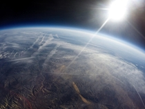 Hopefully not the only picture Ill take from space The view from my GoPro balloon