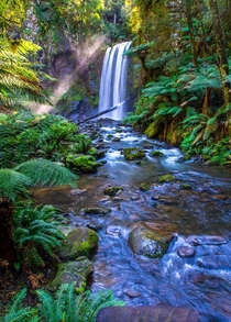 Hopetoun Falls located in the Great Otway National Park - Victoria Australia By Steve Bittinger