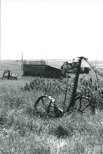 Horse-Drawn Mower with a Barn and Farm House Medicine Lake Montana Album in the comments