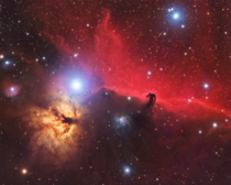 Horsehead- and Flame nebula