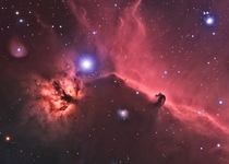 Horsehead and Flame Nebulae in HaRGB