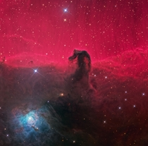 Horsehead Nebula also known as Barnard  in emission nebula IC  is a dark nebula in the constellation Orion