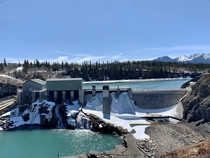 Horseshoe Dam  near Seebe Alberta A run-of-the-river dam it utilizes the Horseshoe Falls on site to generate  MW primarily as backup in case of outages or high demand