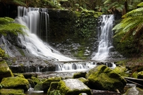 Horseshoe Falls in Mt Field National Park Tasmania Australia  June