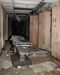 Hospital Bed at an Abandoned Military Hospital in the Upper Peninsula of Michigan