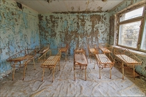 Hospital nursery in Pripyat Ukraine