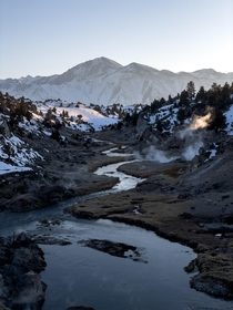 Hot creeks for warmth Mammoth Lakes CA